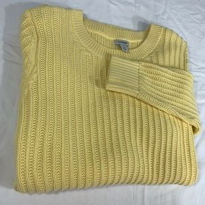 L.L. Bean Womens Butter Cable Knit Sweater MED